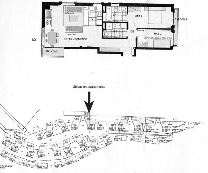 plano apartamento alquiler baqueira